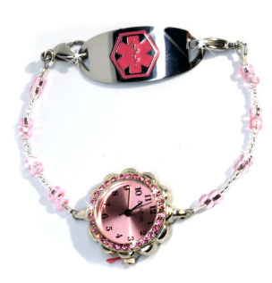 Cherry Blossoms Medical ID Watch
