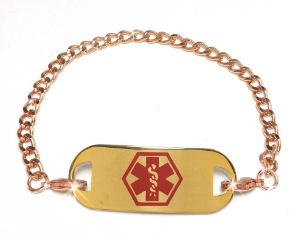 Copper Chain Medical ID Bracelet