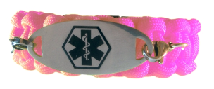 Durable Medical ID Bracelet Pink