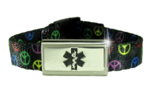 Black Peace Wristband