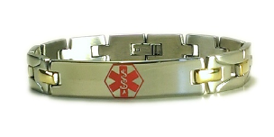 Silver and Gold 101 Medical ID Bracelet